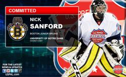 Junior Bruins' Nick Sanford Commits to University of Notre Dame