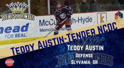 Ohio Blue Jackets Defenseman Teddy Austin Signs with NCDC's Monarchs