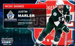 Deerfield Academy Star Justin Marler Signs Tender with NCDC's Islanders HC