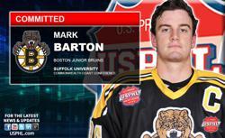 Junior Bruins Elite Captain Mark Barton Commits to NCAA DIII Suffolk University