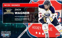 Buffalo Jr Sabres Forward, Zach Wagner Chooses NCDC's Monarchs
