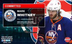 PAL Junior Islanders Mark Whitney  Makes NCAA DIII Commitment