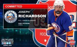 PAL Junior Islanders Joe Richardson Makes NCAA DIII Commitment