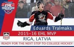 2015-16 EHL MVP Ready for College Hockey