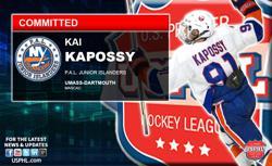 PAL Jr. Islanders Kai Kapossy Earns NCAA Commitment  to UMass-Dartmouth