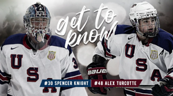 Get to Know: Spencer Knight and Alex Turcotte (Video)