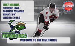 Riverkings Sign Forward Luke Milieus from Dubuque, Iowa