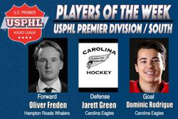 USPHL Premier Division: Players Of The Week / South Divisions
